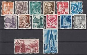 DD8049/ GERMANY – FRENCH BADEN – MI # 14 / 27 COMPLETE MINT MNH