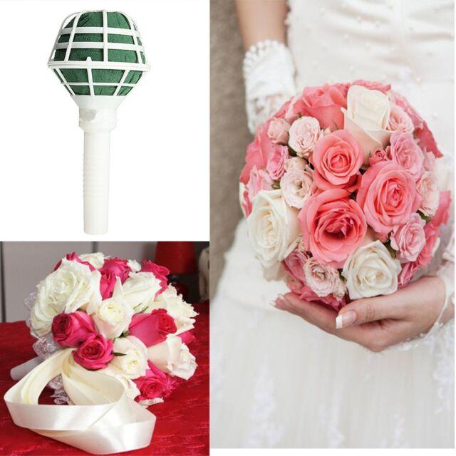 Sell Decoration Bridal Floral Foam Wedding Supplies Flower Holder Bouquet Handle