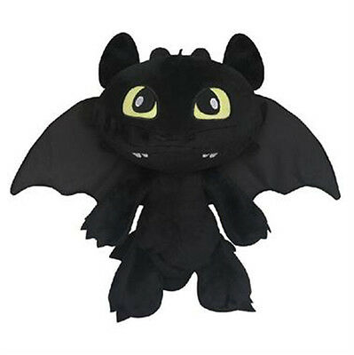 """How To Train Your Dragon Toothless Night Fury Plush Stuffed Toy Doll 12"""""""