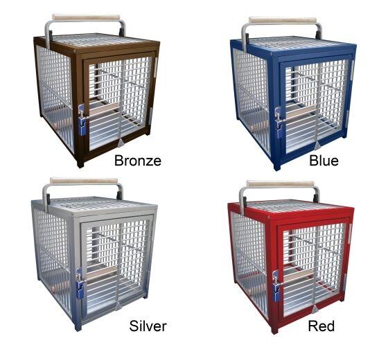 ATT 1214 ALUMINUM PARROT Bird Cage pet Travel Carrier toy toys portable crate