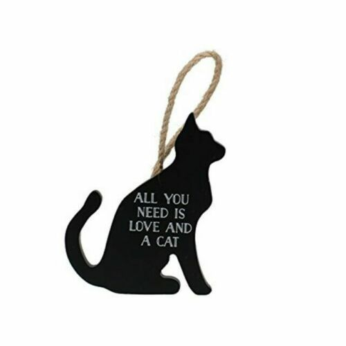 Large 38cm /'All you need is Love and Cat/' sign hanger Cat lover Valentines gift