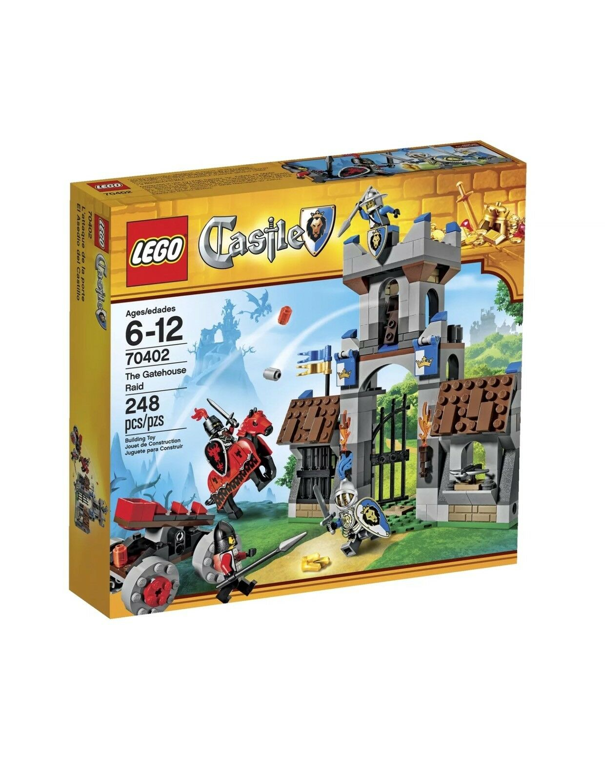 LEGO Castle 70402 The Gatehouse Raid Nuovo Sealed Retirosso