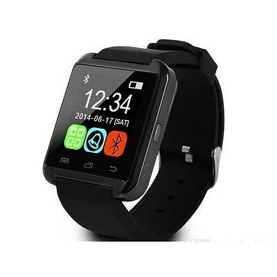 Smartwatch U8 Bluetooth Orologio per iOS iPhone 4 4s 5 5s 5c 6 6 Plus nero