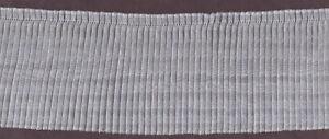 "4"" WHITE PLEATED ORGANZA FABRIC TRIM 17 YARDS"