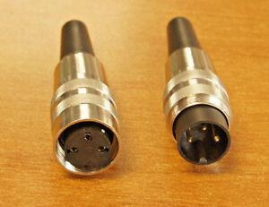 Connecteur-prise-DIN-a-visser-type-034-petit-Tuchel-034-brochage-au-choix