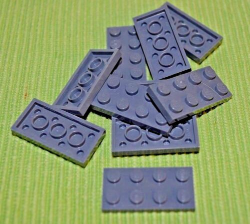 2x4 Dark Gray Plate Bricks  ~ Lego ~ NEW 10