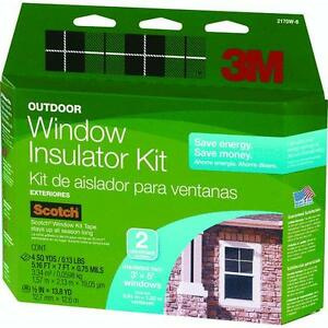 3 pk 3m 62 w x 84 h clear outside window insulation kit for Window insulation kit