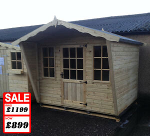 Garden Sheds 8x6 8x6 chalet garden shed, fully tanalised log lap pressure treated