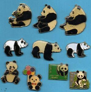 Pin-039-s-pins-lapel-pin-Animal-PANDA-assis-avec-ballons-Lunettes-LAMY-WWF