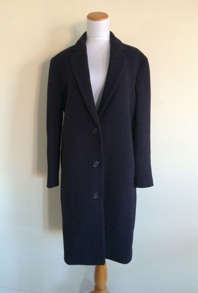 JCrew Stadium Cloth Top Coat Navy bluee Womens 2 New B3898 NWT S M
