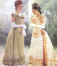 FF Uncut 12-14-16 Victorian Bustle Dress With Train Costume Sewing Pattern 3012