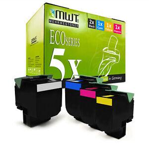 5x-Eco-Cartouche-XXL-Pour-LEXMARK-cs-510-de-cs-410-dtn-cs-510-dte-cs-410-dn