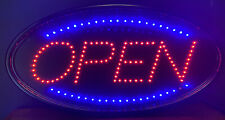 Oval Two Setting Electric Wall Mounted Open Sign Solid And Chasing Lights 19