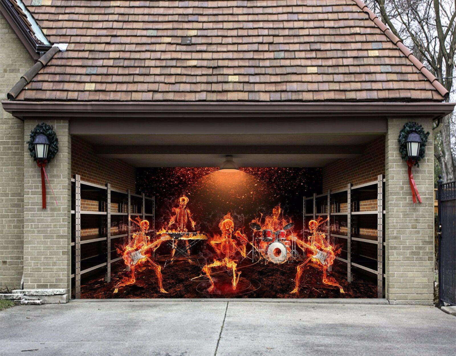 3D Skeletons 532 Garage Door Murals Wall Print Decal Wall AJ WALLPAPER AU Lemon