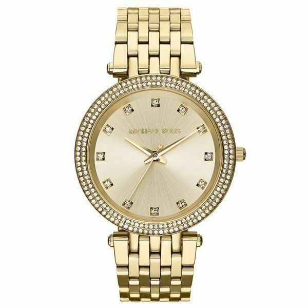 7dd2f8bbc Michael Kors Darci Gold Tone Crystal Bezel Bracelet Womens Watch MK3216 for  sale online   eBay