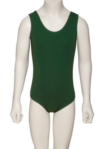 Boys Black,White,Navy,Blue Cotton Sleeveless Ballet Dance Leotard KDC036 Katz