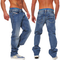 Diesel Jeans Larkee 008AT 8AT Herren Hose Regular Straight blau