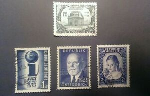 stamps-austria-580-581-583-588-use