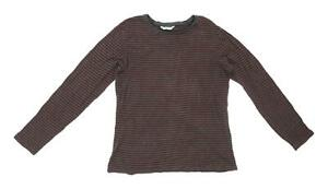 Marks-amp-Spencer-Womens-Size-16-Striped-Cotton-Multi-Coloured-T-Shirt-Regular