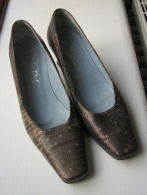 Van Dal Grey Patent Leather Snakeskin