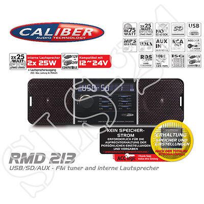 Caliber RMD6 USB SD Radio mit internen Lautsprecher 6V 6V LKW
