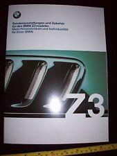 BMW Z3 Roadster 2000 Car OPTIONS BROCHURE in German Prospekt 21pg new condition