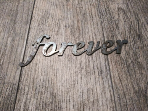 FOREVER Metal Wall Art Word Quote Metal Sign Decor NEW Steel rustic home decor