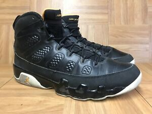 pretty nice 92aa3 49668 Image is loading RARE-Nike-Air-Jordan-9-IX-Retro-Black-