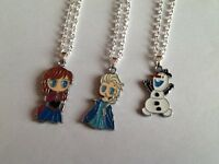 Girls Disney Frozen Character Pendant Necklace - Childrens Party Bags / Gifts