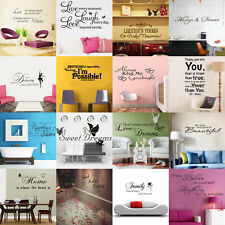 HOT SALE! DIY Removable Art Vinyl Quote Wall Sticker Decal Mural Home Room Decor
