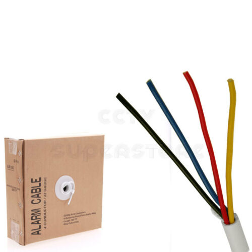 Security Wire Burglar Alarm 22//4 500FT Stranded Unshielded Control Speaker Cable