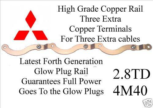 COPPER Delica Shogun 2.8td Riscaldatore glow plugs RAIL