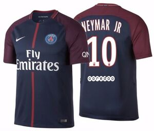 huge selection of 8e80b 4e96e Details about NIKE NEYMAR JR. PARIS SAINT-GERMAIN PSG HOME JERSEY 2017/18.