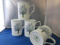 Lavender Set Of Four English Made Fine Bone China Mugs Adderley Ceramics