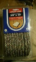 Dockmate Utility Line 3/8×50' Rope Tieboat Mooring Dock Camp Brown Strong