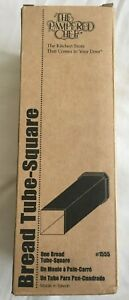 NEW-The-Pampered-Chef-Square-Bread-Tube-1555-Includes-Instructions-amp-Recipes