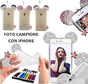 COVER-CASE-CUSTODIA-TOPOLINO-DIAMOND-per-APPLE-IPHONE-7-PELLICOLA-DI-VETRO