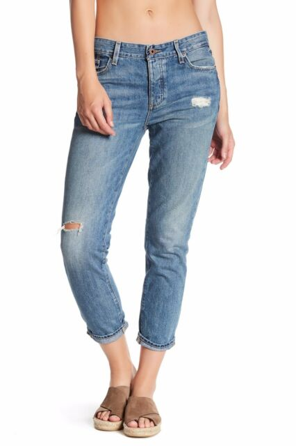Lucky Brand Women/'s Sienna Slim Boyfriend  blue denim sz 8