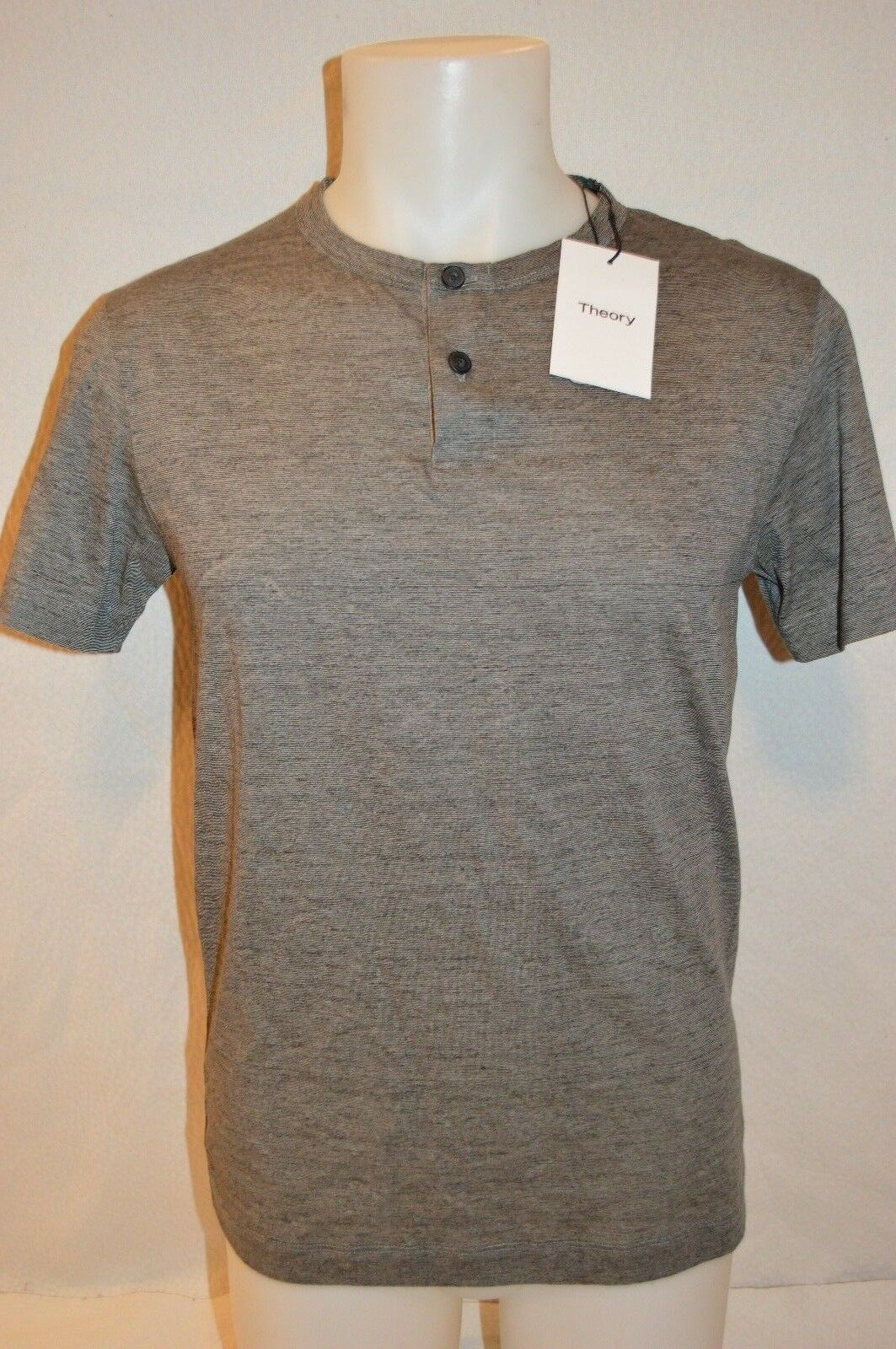 THEORY Man's GASKELL Button Up T-Shirt  NEW  Größe Large  Retail 95