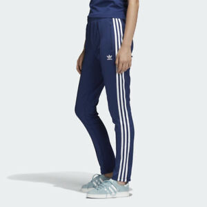 30ed4dcb2f Details about New Adidas Original Womens SUPERSTAR TRACK PANTS BLUE DV2639  XS - L TAKSE