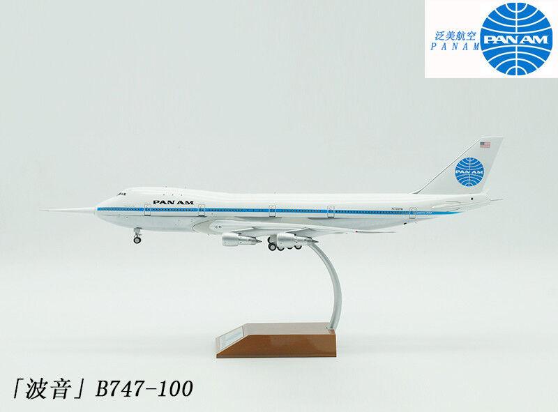 1:200 35CM Inflight PAN AM BOEING 747-100 Passenger Airplane Plane Diecast Model