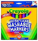 CRAYOLA ULTRA CLEAN WASHABLE MARKERS BOLD COLOURS MADE IN THE USA