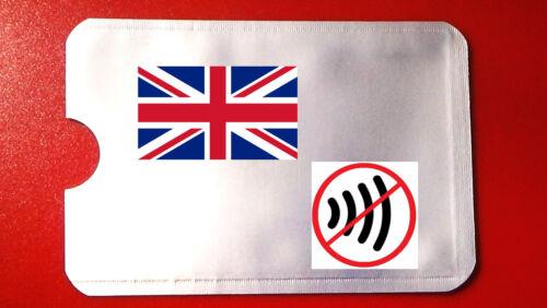 RFID NFC carta di credito senza contatto Protettore Blocco scansione SCUDO REGNO UNITO