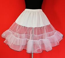 GR 44 46 48 50 52 kneelanger 50er Petticoat blanco rockabilly tul falda enagua