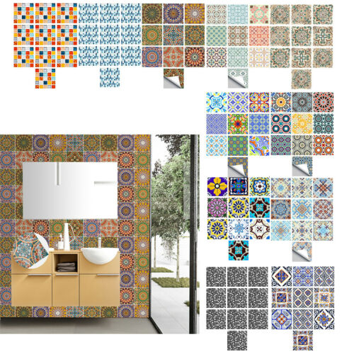 Lovoski 10Pcs Tile Wall Stickers for Bathroom /& Kitchen Backsplash Decor 6/'/'