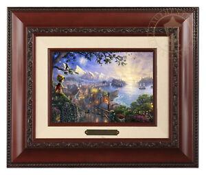 Thomas-Kinkade-Disney-039-s-Pinocchio-Framed-Brushwork-Brandy-Frame