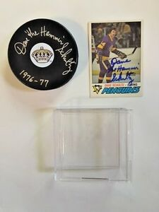 LA-Kings-Dave-the-Hammer-Schultz-Signed-Puck-Case-Hockey-Card