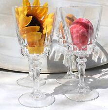 "4 Vintage ""cut"" Crystal Stemware Glasses FREE SHIPPING!"