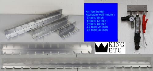 Pneumatic Air Tool 12 Gun Rack Holder 14 GA Shop Garage Wall Storage Organizer
