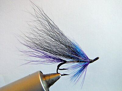 3 x purple variant cascade salmon fly double sizes 6-14